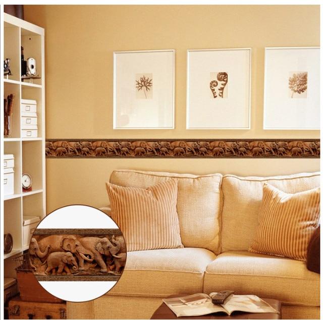 10M Self adhesive Wallpaper PVC Waterproof Stone border Waist Line ...