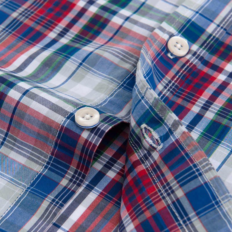 Image 4 - Men's Standard Fit Short Sleeve Checkered Plaid Shirt Single Patch Pocket Casual  Button down Comfortable Cotton Dress Shirts-in Dress Shirts from Men's Clothing
