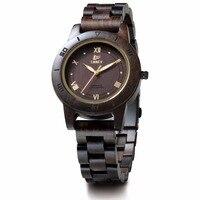Fashion Simple Ebony Women S Wooden Watches For Men Women Two Tone Quartz Lovers Watch WristWatch
