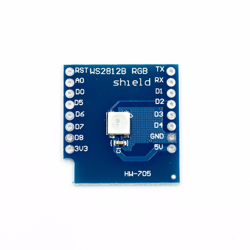 For Wemos D1 Mini Ws2812b Rgb Full Color Shield Board Buy Now Electronic Components & Supplies