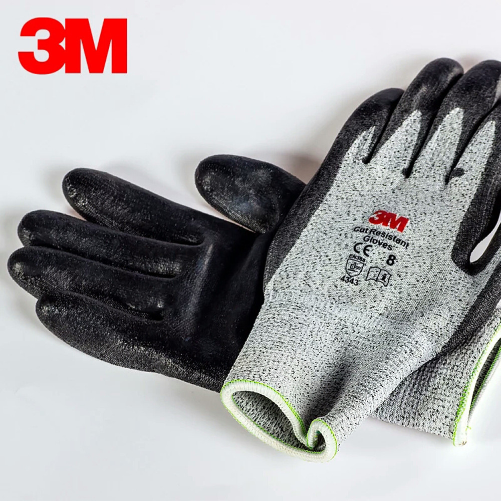 3M Cut-proof Gloves Level 3 Or 5 Wire Inspection Factory Slaughter Metal Cutting Explosion-proof Cut-stab-proof Knife 3M Gloves 1pcs safety gloves cut proof stab resistant stainless steel wire metal mesh butcher anti knife