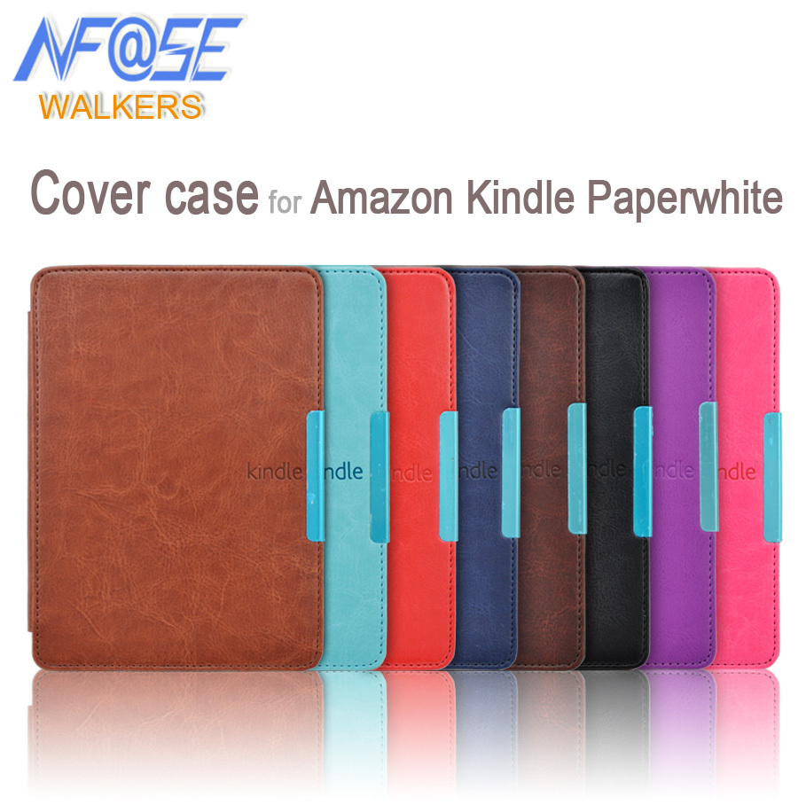 Smart slim leather cover with magnet closure case for Amazon kindle paperwhite 1/2/3 2nd 3nd ebook/ereader+film+Stylus japan tokyo boy girl magnet pu flip cover for amazon kindle paperwhite 1 2 3 449 558 case 6 inch ebook tablet case leather case