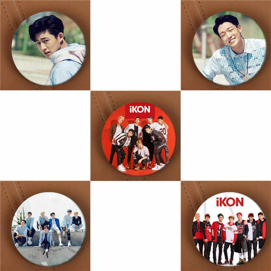 Youpop KPOP IKON calentamiento de un solo álbum broche K-POP Pin insignia accesorios para ropa sombrero Decoración Para mochila HZ1778