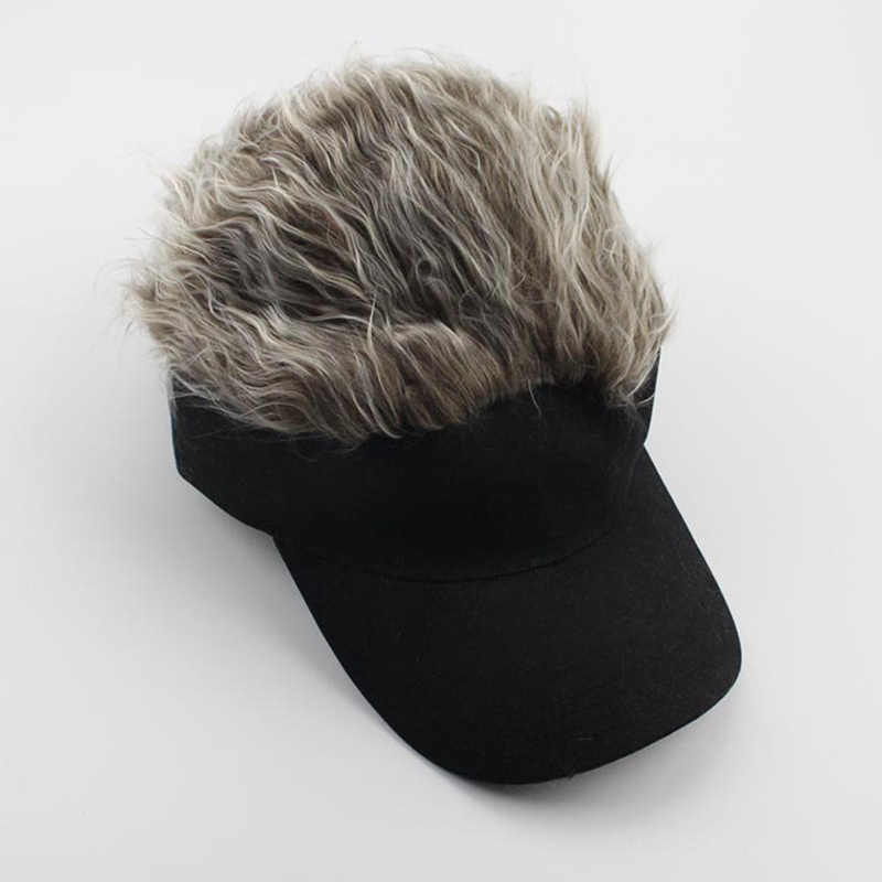 Newly 1 Pcs Wig Baseball Hat Sun Visor Cap with Spiked Hair Winter Warm Outdoor Caps FMS19