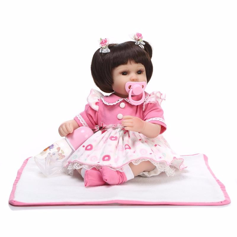 42cm pink princess Handmade brinquedos Soft Silicone Reborn baby doll Toys Toddler real touch cute doll kids gifts collection42cm pink princess Handmade brinquedos Soft Silicone Reborn baby doll Toys Toddler real touch cute doll kids gifts collection