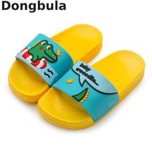 Летние детские тапочки для мальчиков и девочек; пляжные сандалии; детские домашние тапочки; Домашние Шлепанцы из ПВХ на плоской подошве; нескользящая детская обувь для ванной
