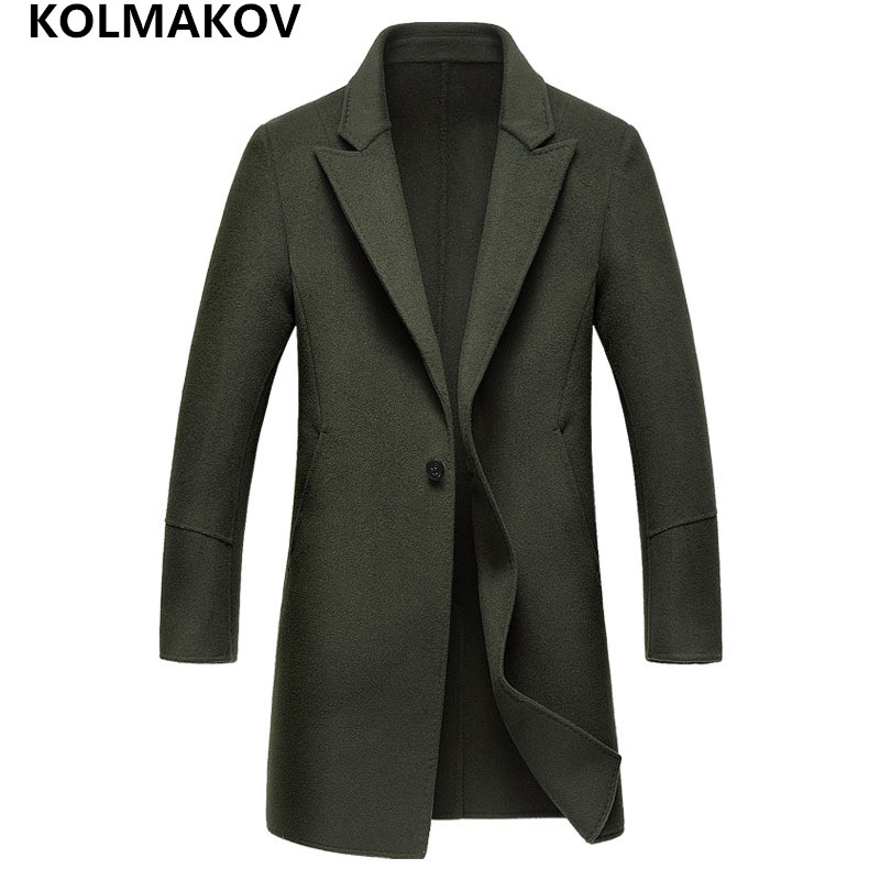 2018 New mens winter coats jackets wool fabric Coats double-faced Men's woolen coats high-end cashmere coats man plus size M-3XL