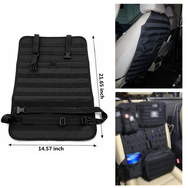 FIRECLUB Car Seat Back Organizer Tactical MOLLE Vehicle Panel Cover Protector Universal Fit