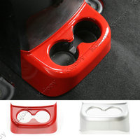 Red Matt ABS Rear Cup Holder Cap Cover Frame Trim Car Styling Accessories For Jeep Wrangler