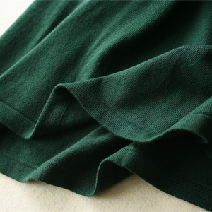 Image 4 - MERRILAMB 2019 האביב האחרון סגנון נשים של סרוג קשמיר צמר שמלה ארוך סגנון מוצק צבע V צוואר שמלות משלוח חינם