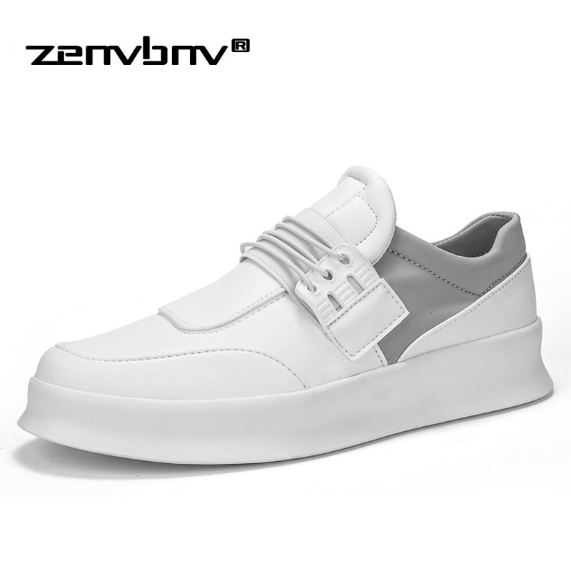 ZENVBNV Men Shoes Casual Man Autumn Leather Shoes High Quality Lace-up Men's Sneakers Solid Footwear Fashion Male shoes Flats uexia leather casual shoes men fashion wedding retro oxfords breathable black high top lace up high quality flats male moccasins