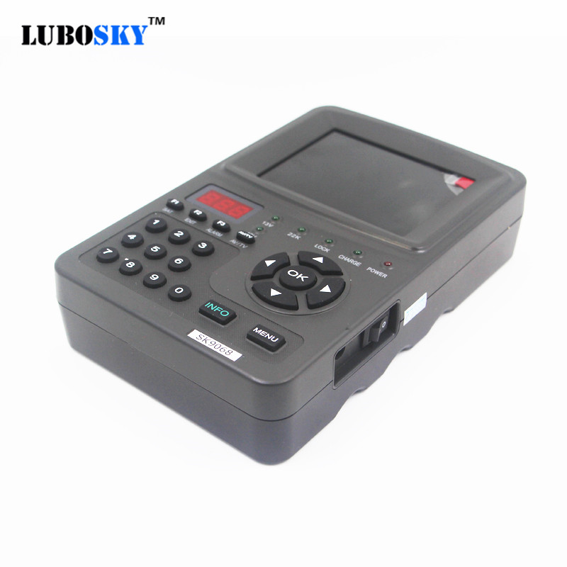 LUBOSKY Sat Finder 3.5 inch LCD Sat DVB-S2 High Definition MPEG-4 FTA Digital Satellite Finder SK9068G sat integral s 1221 hd stealth купить есть в наличии