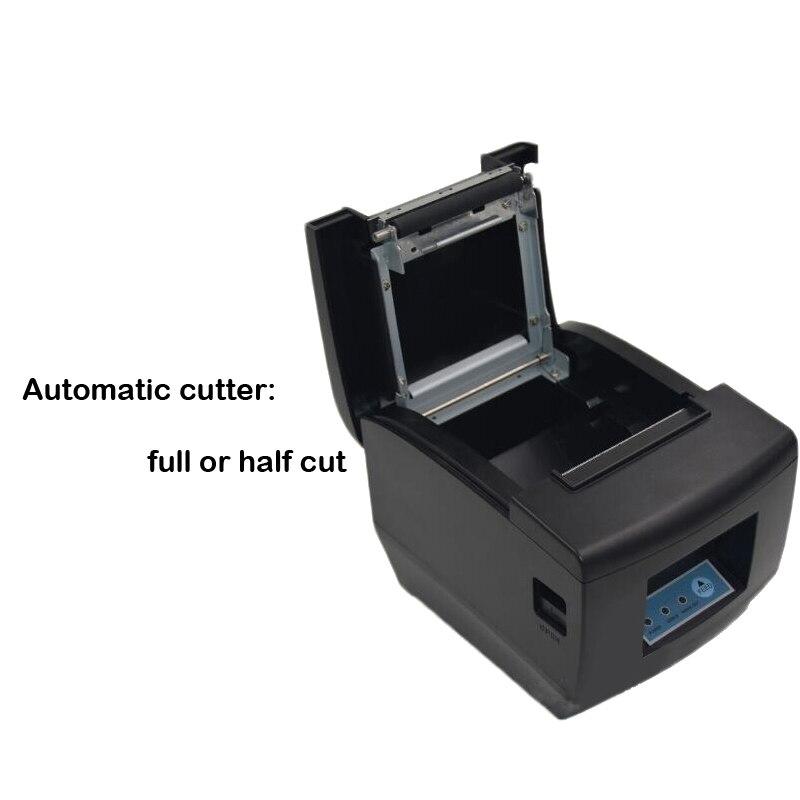 Горячая Распродажа 80 мм термальность чековый принтер usb и lan порты разъёмы impressora Поддержка проводной несколько Компьютер печати - 2