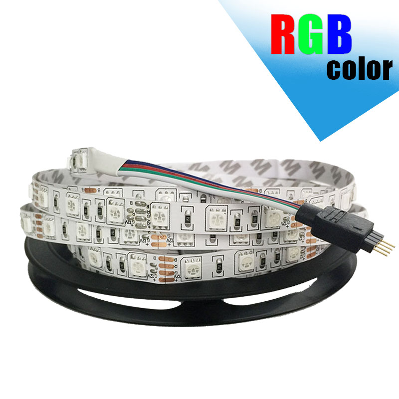 Outdoor 12 Volt 60leds Meter Led Strip Smd 5050 Rgb: 5M/Roll SMD 5050 Non Waterproof LED Strip Light DC12V