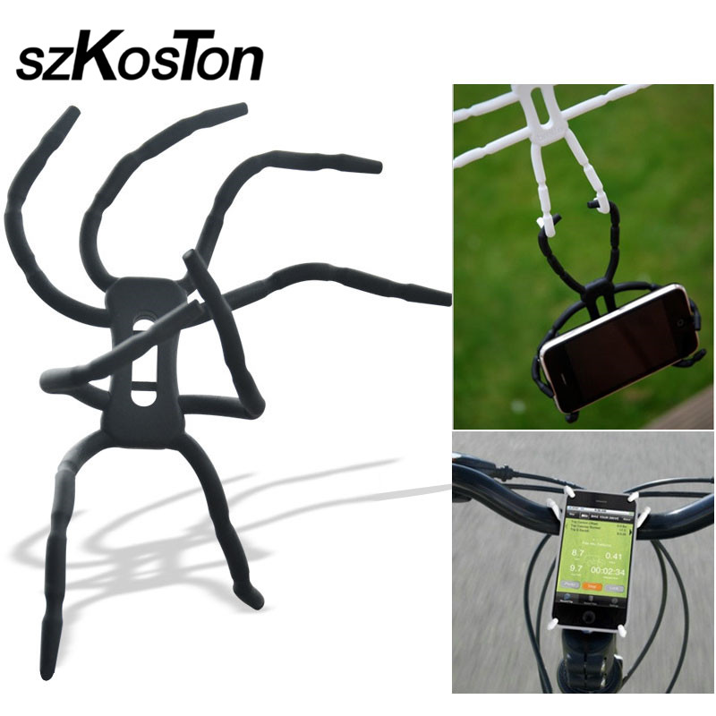 Universal Car Mobile Phone Holder For IPhone Samsung Bicycle MP4 Spider Flexible Wall Bracket Desktop Stand GPS Mount Car Holder