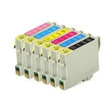 Полный Чернил 6 ШТ. Картридж T0481 T0482 T0483 T0484 T0485 T0486 Принтера для Epson STYLUS PHOTO R200 R220 R300 R300M R320 R340