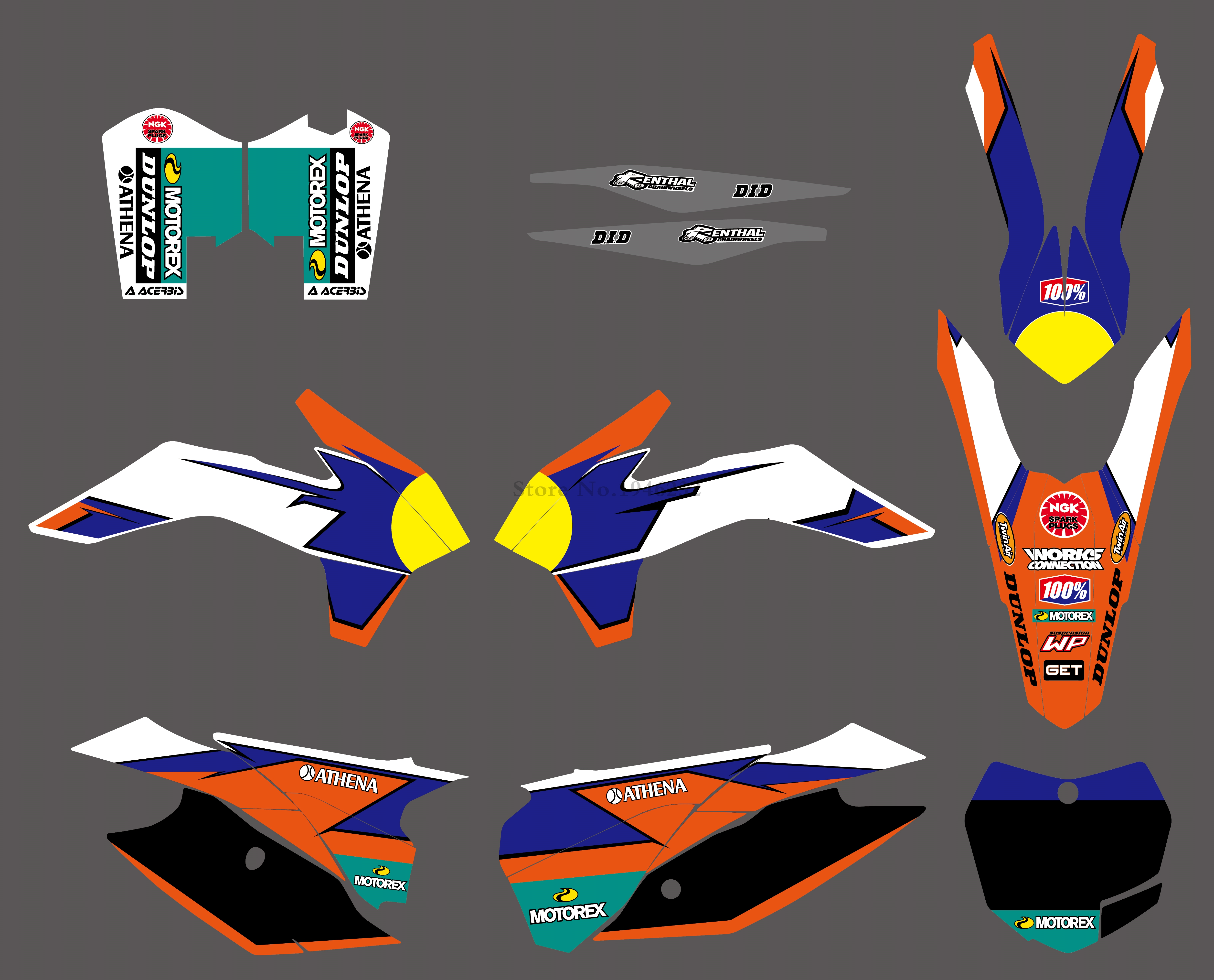 H2CNC NEW STYLE TEAM GRAPHICS DECALS STICKERS FOR KTM SX SXF XC XCF 125 200 250 300 350 450 2013 2014 2015 pivot brake clutch lever for ktm 125 150 200 250 450 505 xc f exc xc sx sx f xc w motorcycle dirt bike off road cnc