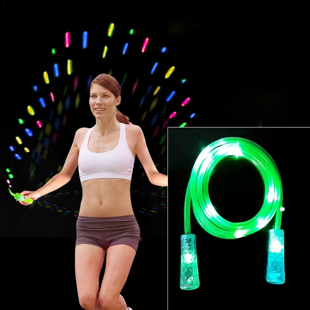 LED Light Skipping Ropes Jumping Rope For Man Woman Children Speed Cardio Gym Excercise Fitness Jump Rope Fit Workout