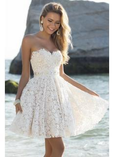 Homcoming Dresses Vestido Curto Lovely Sweetheart Lace Latest ...