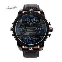Mode hommes Montres De Luxe Quartz Grand Cadran Poignet Sport Horloge Alliage montre-bracelet en gros xF3