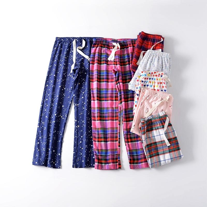 Casual Woman Soft Sleep Bottoms,Womens Cotton Warm Pajama Pants,Loose Trousers Femme,Quality