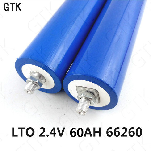 60ah Lithium Titanate Battery 2 4v 60ah Lto Cylindrical