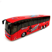 1 32 Diecast Metal mini BUS Toy Car pull back car alloy plastic model children toy
