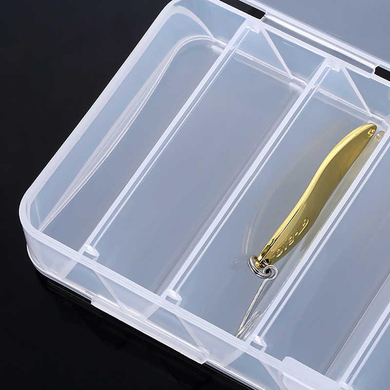 جديد يطير صندوق معالجة الصيد تخزين أداة 14 مقصورات مزدوجة الوجهين سبينر البلاستيك مفيدة خطاف سنارة صيد السمك الحالات الصعبة