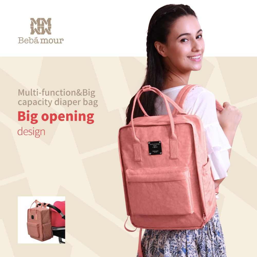 все цены на Bebamour New Diaper Bag Fashion Designer Backpack with Exclusive Insulated Bag Mother Waterproof Stroller Bags Handbag for Mom онлайн