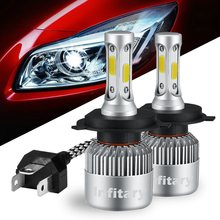 Infitary H4 H7 LED Car Headlight Bulbs 9005 9006 H3 H13 H8 880 H27 9004 9007 H11 LED H1 Led Automotive 12V/24V 72W 8000LM 6500K(China)