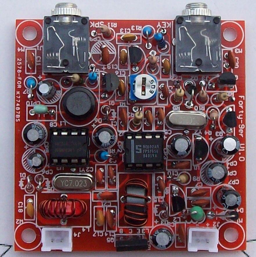 S-Forty-9er HAM Radio QRP Kit 3W Transceiver Telegraph CW Shortwave Radio 7.023M