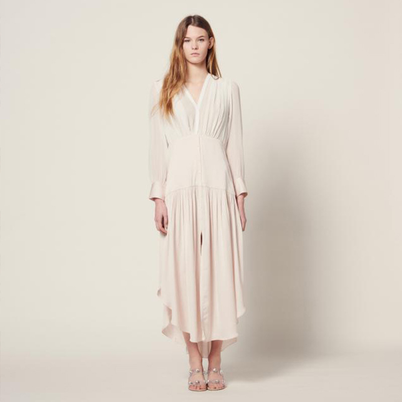 Women Dress 2019 Spring and Summer New Breathable Chiffon Loose Long Dress