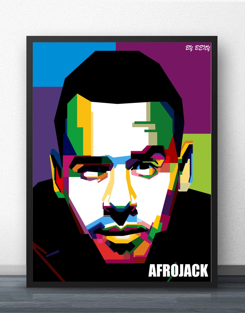 Afrojack Vector Art Wall Art Paint Wall Decor Canvas Prints Canvas Art Poster Oil Painti ...
