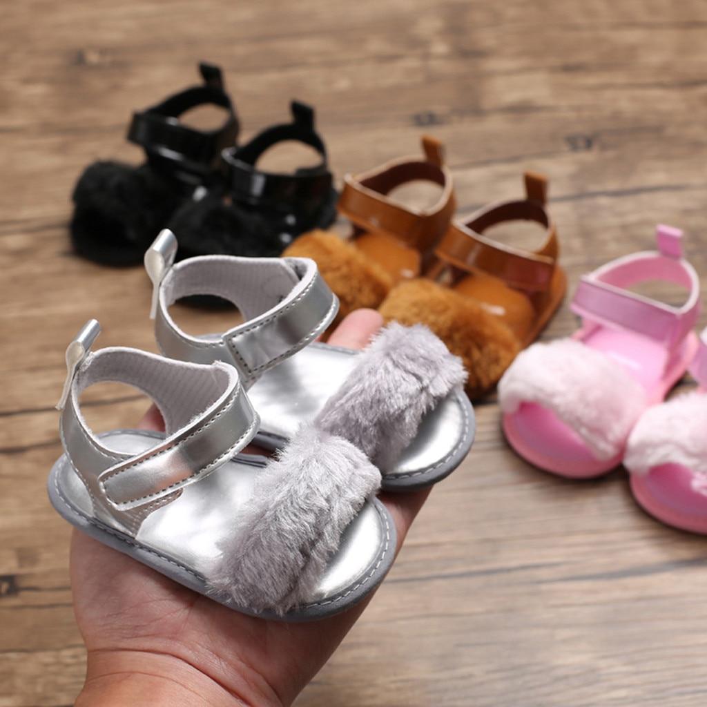 Однотонные сандалии для новорожденных девочек с мягкой подошвой, дышащие простые эластичные сандалии, обувь принцессы для малышей