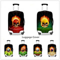 FORUDESIGNS Distinc Design Skull Ball  Luggage Covers Hip-hop Luggage Protect Covers Dustproof Men Boys Suitcase Cover
