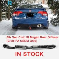 Для 8th Gen Civic SI Mugen FRP волокно стекло задний диффузор (Civic FA USDM только) для Honda волокно стекло бампер средства ухода за кожей комплект