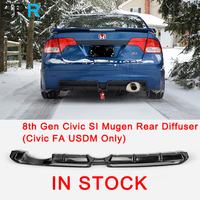 For 8th Gen Civic SI Mugen FRP Fiber Glass Rear Diffuser (Civic FA USDM Only)For Honda Fiberglass Bumper Body Kit