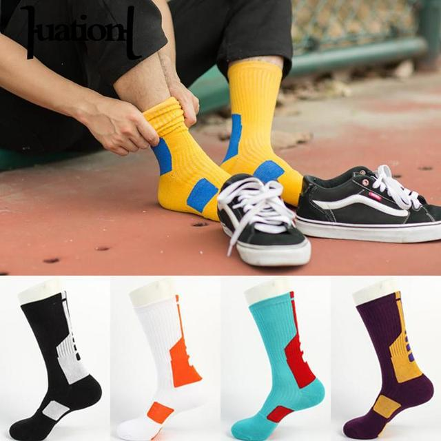 Thicken crew Socking Harajuku Men Colorful Hip Hop Coolmax Socks Cool Cotton Compression Skateboard Socks Chaussette Homme
