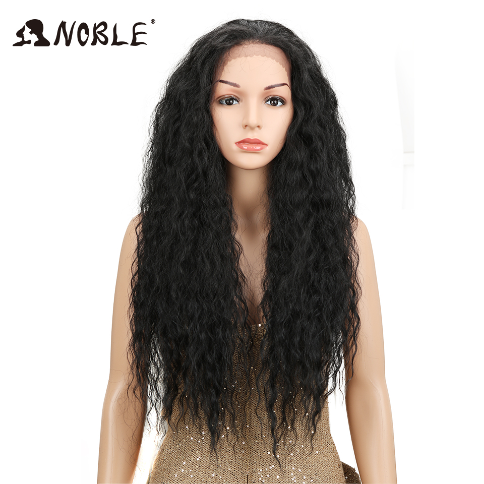 Noble Free Part Lace Front Synthetic Wigs For Women 30 Inch 150% Density High Temperature Fiber Afro Hair American African Wigs