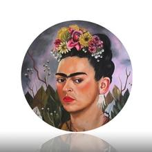 Фрида Кало живописи декоративная тарелка известный Self Portrait висит фон украшением художественное бюро няня Керамика ремесло блюдо