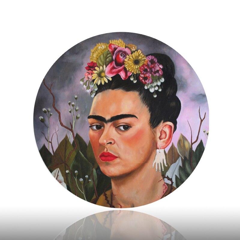 Frida Kahlo Malerei Dekorative Platte Berühmte Selbst Porträt Hängen Hintergrund Schmuck Künstlerische Schreibtisch Sitter Keramik Handwerk Gericht