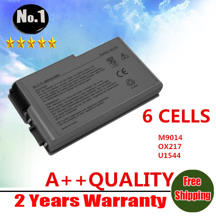 WHOLESALE New 6CELLLS laptop battery for Dell Latitude D500 D505 D510 D520 D600 D610 D530 Series 4P894 C1295 3R305 FREE SHIPPING wholesale new 6 cells laptop battery for dell latitude d620 d630 d630c d631 series 0gd775 0gd787 0jd605 0jd606 free shipping