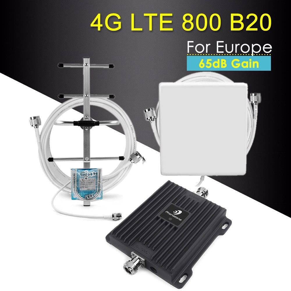 LTE CDMA 4G 800 amplificateur de Signal de téléphone portable répéteur 4g LTE 4g ALC bande intelligente 20 65dB amplificateur de Signal cellulaire répéteur 800 mhz