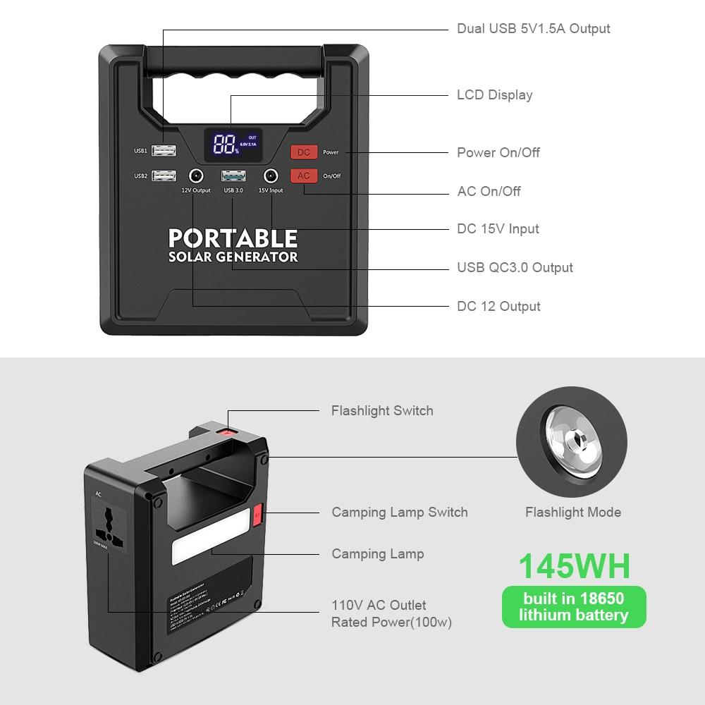 X-DRAGON портативный генератор 39000mAh Power Bank 110V/230V US EU версия портативная электростанция для кемпинга на открытом воздухе.