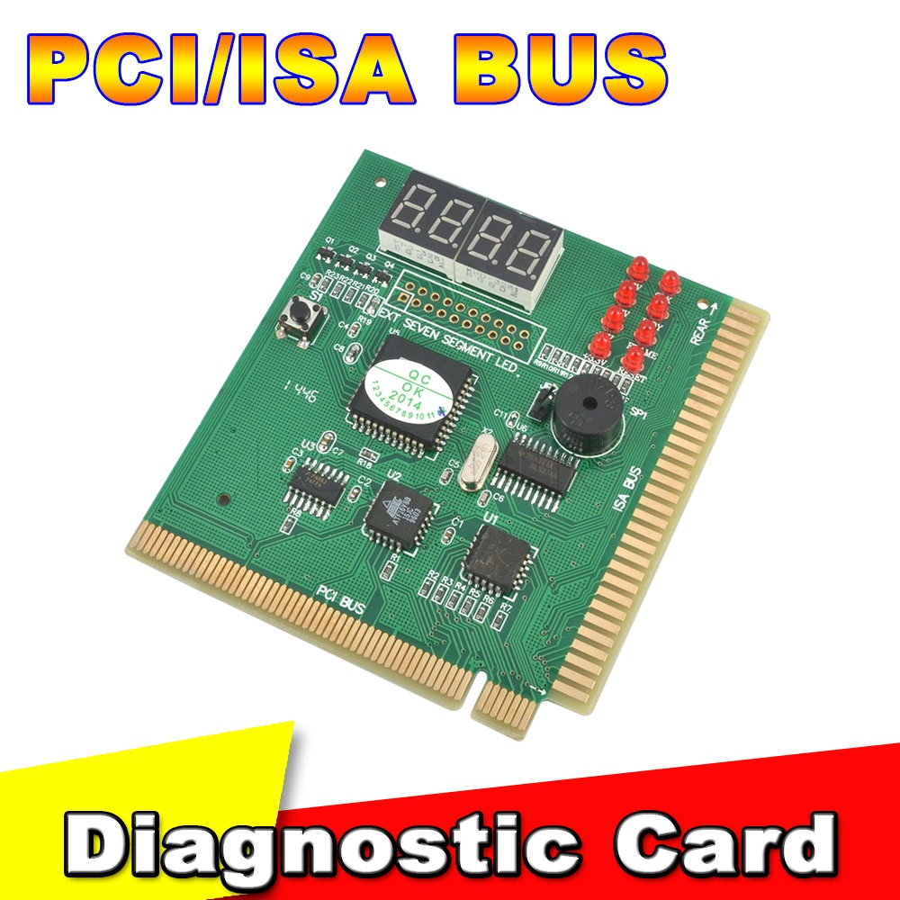 New arrival pci amp isa motherboard tester diagnostics display 4 digit pc computer mother