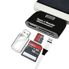 USB C adaptador Conversor OTG SD TF Micro SD porto com o dom gratuito de Carregamento Cabo USB C Masculino para tipo C Telefones Inteligentes accessoies