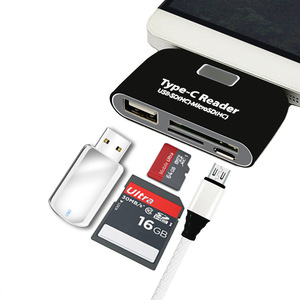 Image 1 - USB C adapter OTG Converter SD TF Micro SD port with free gift of Charging Cable USB C Male for Type C Smart Phones accessoies