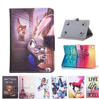 Funda Universal para ASUS MeMO Pad HD 7 ME173X/Nexus 7 1st 2012 2nd 2013/ME572CL 7 pulgadas tableta impresa PU funda vertical de cuero