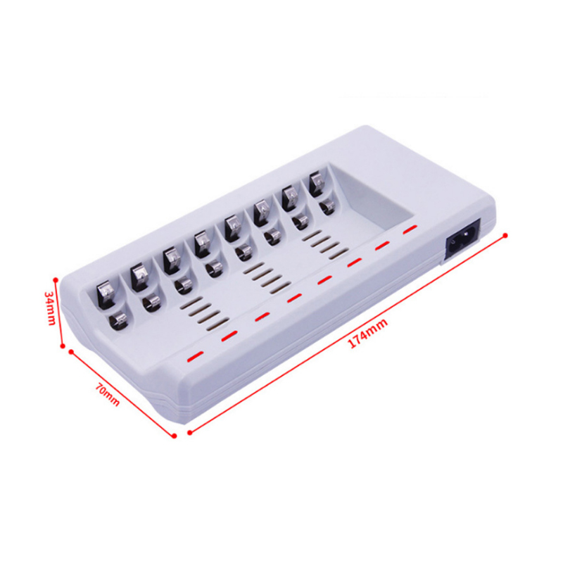 Charger Original 8 Slots Charger For AA / AAA Ni-MH / Ni-Cd Batteries Intelligent Rechargeable Battery Charger EU/US/UK