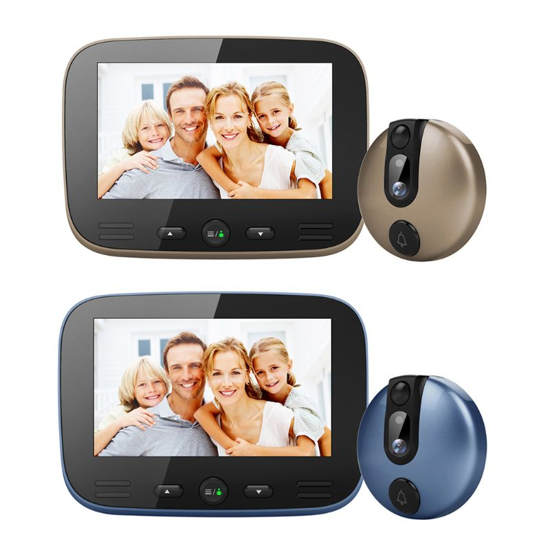 4.3 Inch LCD Colorful Screen Video Doorbell Camera Viewer Smart Electronic Cat Eye Peehole For Night Vision Motion Detection Hom